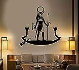 Dios egipcio antiguo RA Religión Egipto Etiqueta de la pared Sala de estar dormitorio Decoración del hogar Diseño Vinilo Tatuajes de pared arte mural póster