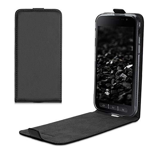 kwmobile Hülle kompatibel mit Samsung Galaxy Xcover 4 / 4S - Handy Case Handyhülle - Flip Schutzhülle in Schwarz