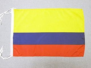 Colombia Vlag 45x30 cm koorden - Colombiaanse SMALL vlaggen 30 x 45 cm - Banier 18x12 in Hoge kwaliteit - AZ FLAG