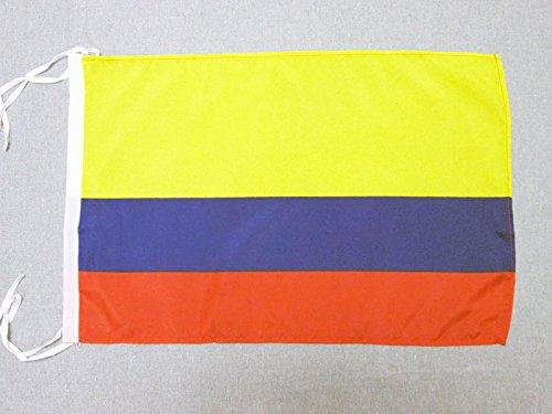 AZ FLAG Flagge KOLUMBIEN 45x30cm mit Kordel - KOLUMBIANISCHE Fahne 30 x 45 cm - flaggen Top Qualität