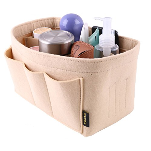 Filz Geldbörse Handtasche Organizer Taschen Insert Organizer Make up Beutel in Tasche Beige, Medium