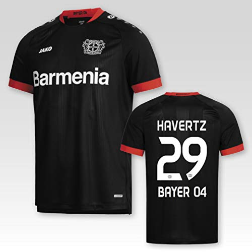 JAKO Bayer 04 Leverkusen Heimtrikot 2020/21 Kinder mit Spielerflock Havertz Nr. 29 (128)