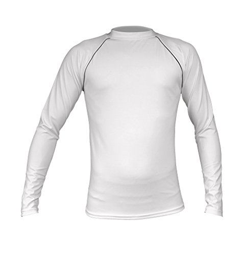 Soakin' Wet Long Sleeve Rash Guard Swim Shirt for Men 2X White