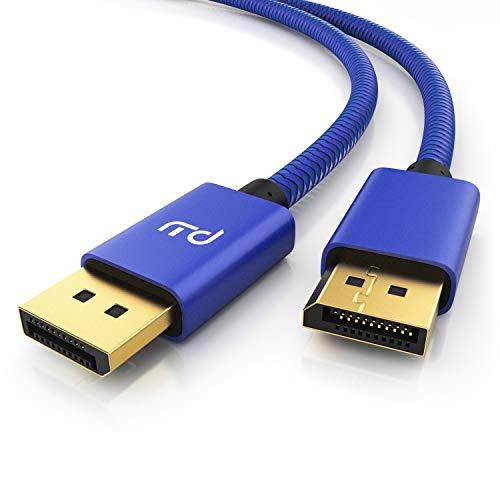 Primewire – 8k Premium BildschirmPort Kabel - 3m - DP 1.4 zu DP 1.4 - 8k @ 60 Hz 4k @ 120 Hz – UHD II - bis zu 32,4 Gbit - zur Verbindung von Desktop-PC & Notebooks mit Monitoren & Projektoren