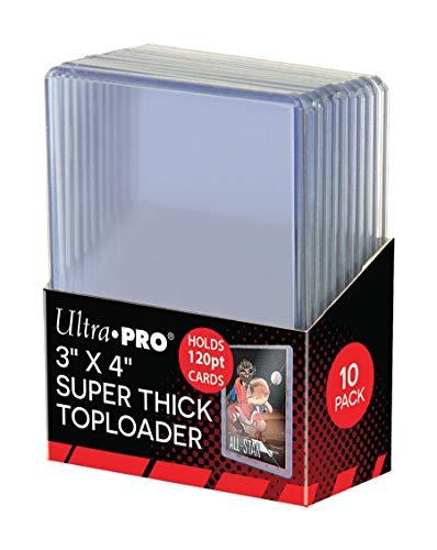 "Price comparison product image Ultra Pro Toploader Top Loader - 3""x4"" 120pt. (10ct)"