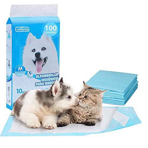 Nobleza - 100 pz Tappetini igienici per Cani, Misure 60 * 60cm, Tappetini assorbenti per Animali Domestici