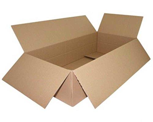 40 Stk. Faltkarton 800x400x(100)-200mm VARIABLE HÖHE, 1wellig DICKWELLE