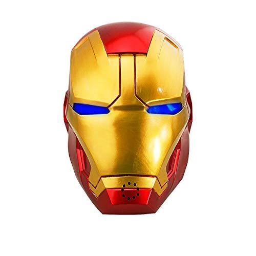 yacn Iron Man máscara de Hierro Adulto Hombre del Casco con el Cambiador de la Voz y LED Light-up Ojos Puntales Réplica Vengadores de Vestuario
