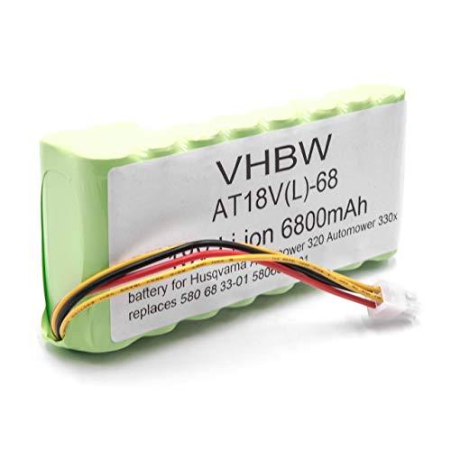 vhbw batería Compatible con Husqvarna Automower 435X AWD cortacésped Robot cortacésped (6800mAh, 18V, Li-Ion)