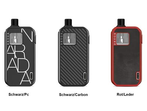 Produktbild Augvape Druga Narada 1100mAh Pod Kit 2, 8ml Farbe Schwarz / Carbon