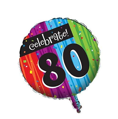Celebrate 80 Mylar Balloons
