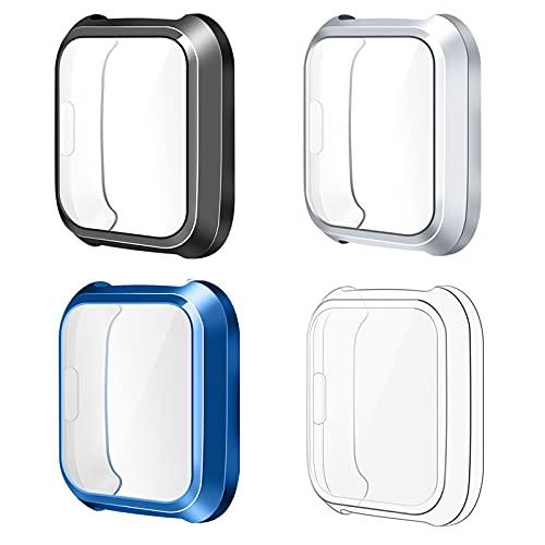 KIMILAR [4 Piezas] Funda Compatible Con Fitbit Versa Lite (no para Versa/Versa 2 / Versa 3), Cubierta Completa Película Protectora de TPU Funda Protectora de Pantalla de TPU para Versa Lite