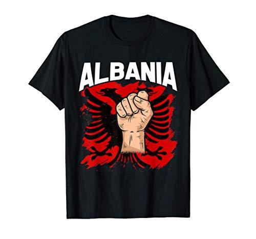 Kosovo Albanien tshirt Tirana Flagge Doppeladler T-Shirt