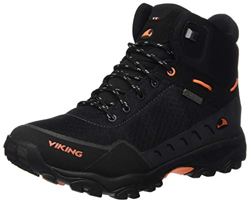 viking Rask Jr GTX, Unisex-Kinder Trekking- & Wanderstiefel, Schwarz (Black/Orange 231), 37 EU (4 UK)