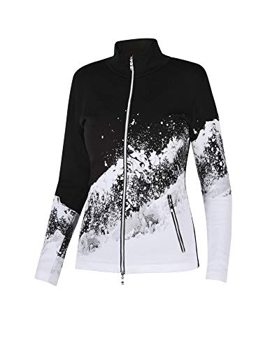 Newland W Charlotte Full Zip Schwarz-Weiß, Damen Freizeitjacke, Größe S - Farbe White - Black