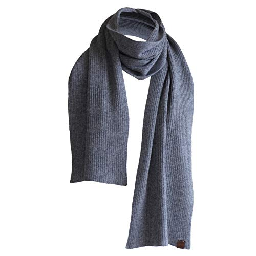 Pure Cashmere Scarf - 100% Cashmere - Made in Nepal - Grey