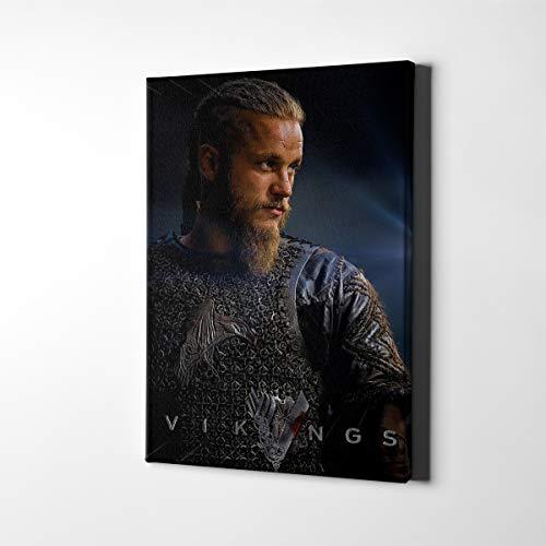 Lienzo moderno para pared, diseño de la serie de televisión de la temporada 6, de Ragnar Lothbrok, cuadro de pared, decoración del hogar (A,50,8 x 76,2 cm enmarcado)