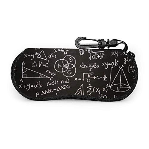 Black Formulas Math Scientific Calculations Estuche portátil para anteojos Estuche protector para anteojos resistentes a la abrasión