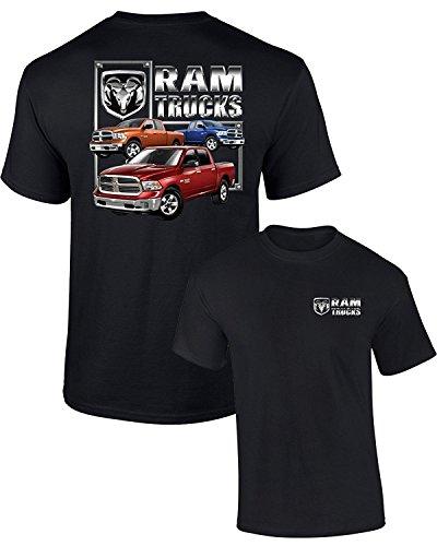 Dodge T-Shirt RAM Trucks (3 Trucks) F&B Guts Glory, Black, L