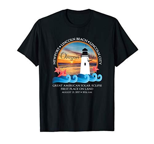 Lincoln Beach, Lincoln City, Newport, Oregon Eclipse Gift T-Shirt