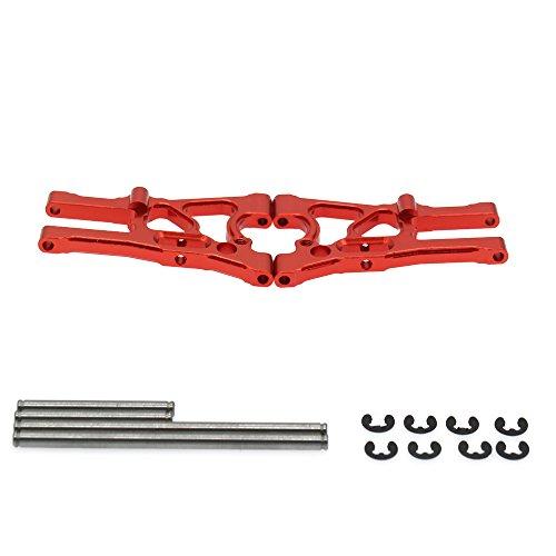 RCAWD Vorne Unterer Querlenker A-Arm 107899 Links & Rechts Aluminiumlegierung für Rc Hobby Auto 1/10 HPI WR8 Serie Flux 2Pcs(Rot)