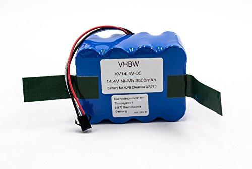 vhbw NiMH Batterie 3500mAh (14.4V) pour Robot aspirateur Home Cleaner Robots domestiques Nestor E.Ziclean Furtiv