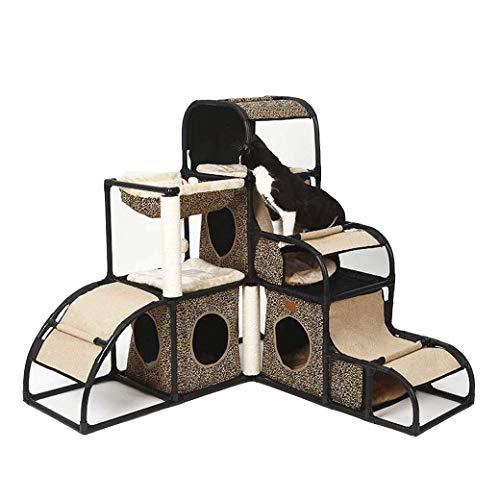 Yanyu Katze Klettergerüst, vielseitig und abnehmbare Kombination Katze Kletterturm, Kratzbaum Scratcher Activity Center