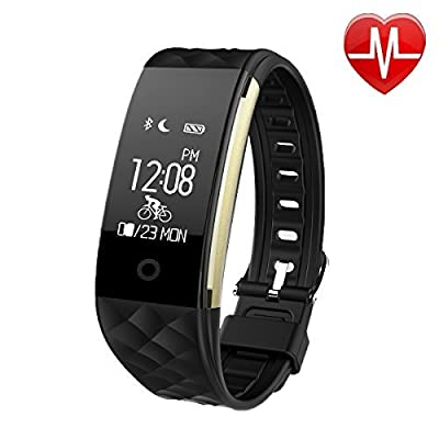 EooCoo Smart Bracelet,Heart Rate and Fitness Wristband,Fitness Activity Tracker with Health Sleep Monitor Pedometer Calorie Counter for iOS and Android (EC02)