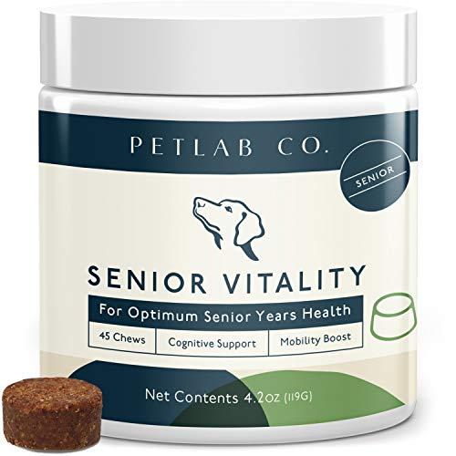 Petlab Senior Dog Vitamin Vitality Chew   Rich in Vital Vitamins & Minerals with Antioxidant Support   Multivitamin for Older Dogs   Vitamin A, Vitamin B12, Vitamin D3, Vitamin E, Biotin