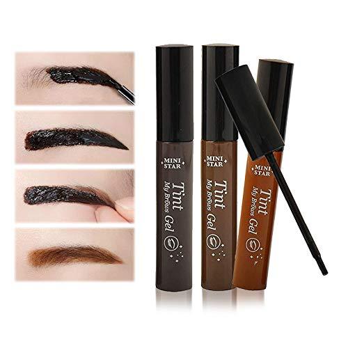 1Pcs Eyebrow Tint Gel Makeup Eyebrow Peel Off Gel Natural Eyebrow Dye Waterproof Long-Lasting Tattoo Eyebrow,Natural and Elegant Brow Color(Light Brown)
