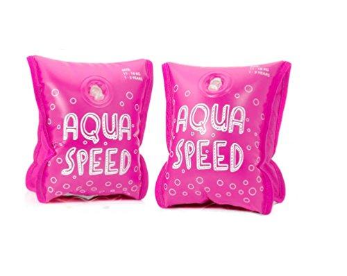 Aqua-Speed kinder 5908217660862 Premium opblaasbare armband, roze, eenheidsmaat