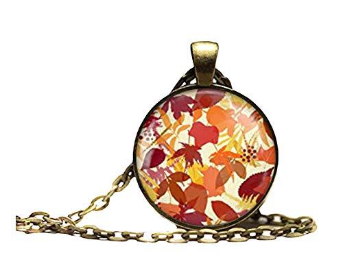 Sunshine Collar con colgante de árbol de hojas de otoño, regalos para ella, exquisitos adornos, estilo bohemio