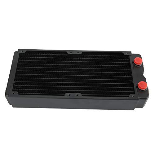 Zunate Radiador de refrigeración por Agua, radiador de intercambiador de Calor de 45 mm, radiador de Cobre con disipador de Calor de Rosca G1 / 4 de Doble Capa, para Equipos de Belleza e industriales