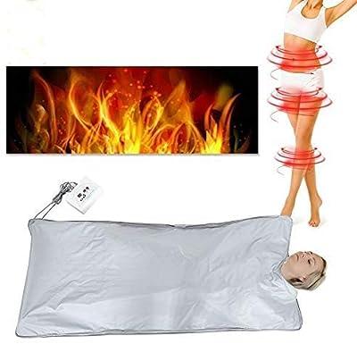 Far Infrared Sauna Blanket,Infrared Blanket, Infrared Sauna Cover, Body Shaper Weight Loss Sauna Slimming Blanket Detox Therapy Machine for Personal Spa Body Shape Slimming Fitness Machine