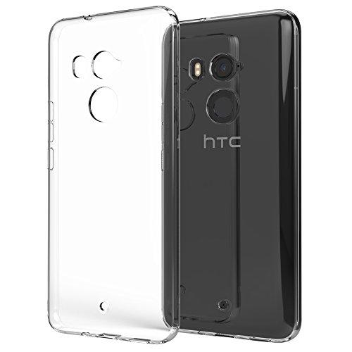 NALIA Handyhülle kompatibel mit HTC U11 Plus, Ultra-Slim TPU Silikon Case Cover Crystal Clear Schutzhülle Dünn Durchsichtig, Etui Hülle Handy-Tasche Backcover Transparent, Smartphone Bumper