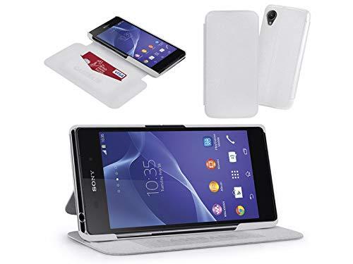Custodia supporto CaseBase di pelle bianca per Sony Xperia Z2UltraSlim