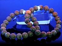 ブレスレット ハックマナイト (3A) (グリーン) (パキスタン産) (約9.5~10mm) (ケース付)【石流通センター】 天然石 パワーストーン