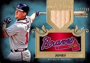 chipper jones game used bat