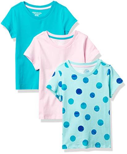 Amazon Essentials Short-Sleeve T-Shirts Fashion, Paquete de