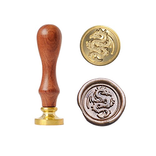 UNIQOOO Arts & Crafts Flying Dragon Wax Seal Stamp- Great Decoration for Cards Envelopes, Invitations, Wine Packages, Gift Wrapping, etc- Exceptional Gift Idea for Artistic Types and Movie Lover