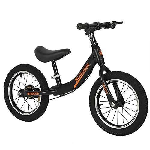 GASLIKE Laufrad Kinder 4 5 6 7 Jahre, 14 Zoll Kinderlaufrad mit Bremse, Verstellbarer Sitz 39-50cm, Training Fahrrad Ohne Pedale für Anfänger Jungen und Mädchen, Stabiles & Sicheres