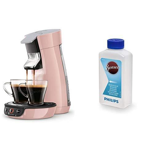 Philips Senseo Viva Cafe HD6563/30 Kaffeepadmaschine (Crema plus, Kaffee-Stärkeeinstellung), rosa mit Flüssigentkalker CA6520/00