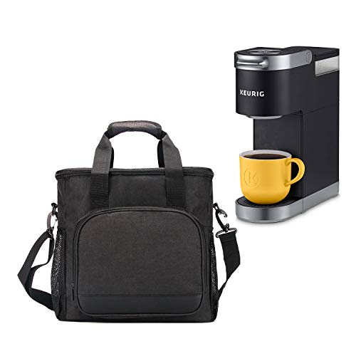 VOSDANS Travel Coffee Maker Carrying Bag, Tote Bag for Keurig K-Mini Plus Coffee Maker or Keurig K-Mini Coffee Maker or Pod or Keurig Travel Mug, Water-resistant, Black (Bag Only) (Patent Design)