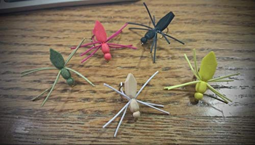 Limited - 15 Foam Spider Assortment Size 10 Trout Flies - Trout Panfish Fly Fishing Freshwater Saltwater Soft Lure Kit