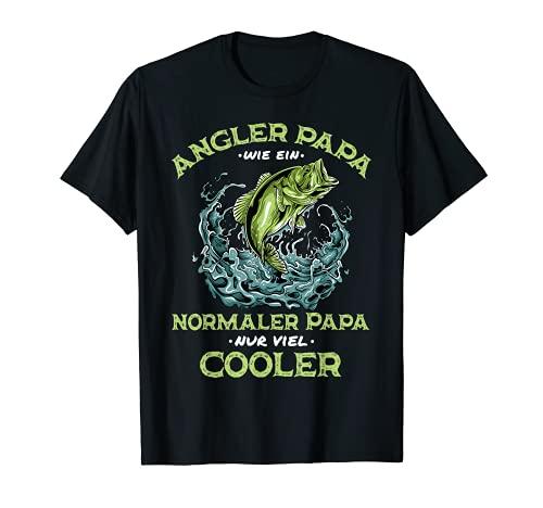 Hombre Divertido disfraz para padre con texto en alemán para el día del padre de pescador. Camiseta