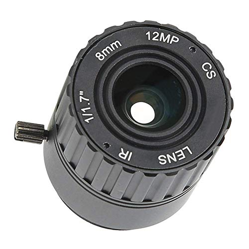 Hopcd Lente de cámara CCTV de 8 mm y 12MP, HD F1.2/2.5 Interfaz de Montaje CS Lente CCTV Fija de Seguridad para cámara de vigilancia de Seguridad