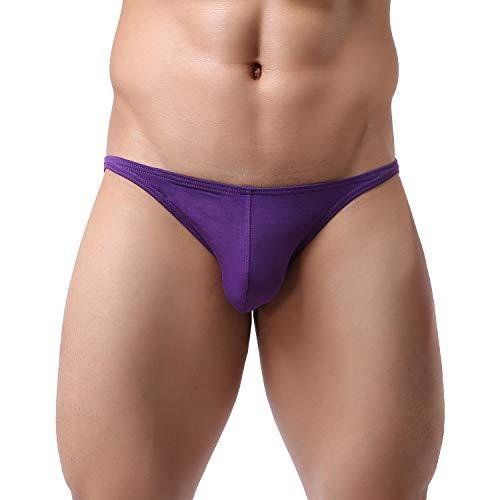 ElsaYX Bikinis de Algodón Suave Sexy Hombres Calzoncillos Ropa Interior