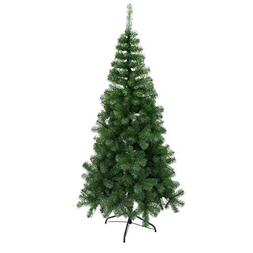 Arcoiris Albero di Natale Artificiale Agrifoglio, Verde Naturale, Materiale in PVC, Supporto in Metallo (120 CM, Albero di Natale)