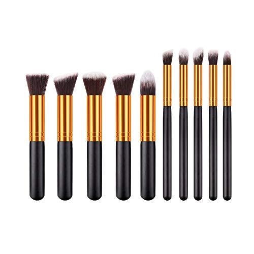 LJTJX Pinceau De Maquillage 10 Pcs Maquillage Multifonction Fondation Eyeliner Blush Cosmétique Concealer Pinceau Maquillage Brush Set Outil