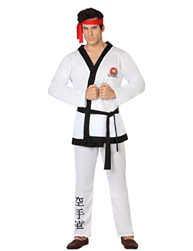 Atosa-26605 Disfraz Karate, color blanco, M-L (26605)